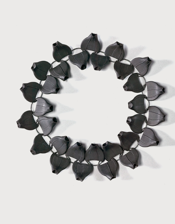 Nikolay Sardamov - BI-RE-CYCLE - necklace 4, blackened silver, rubber