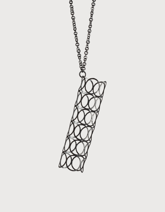 Nikolay Sardamov – GARDEN CITY - necklace 2, blackened silver