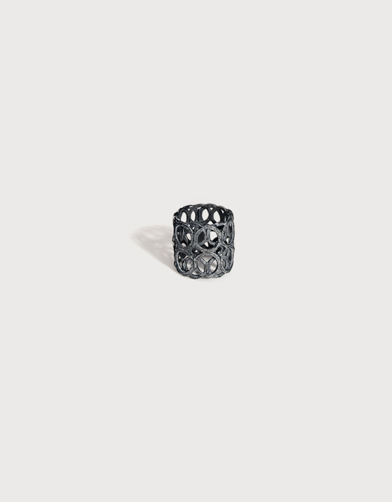 INTERSECTIONS#1 - RING 13, blackened silver - Nikolay Sardamov