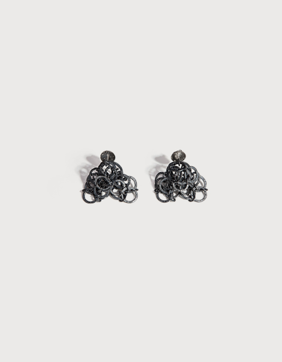 INTERSECTIONS#1 - EAR-RINGS 14, blackened silver - Nikolay Sardamov