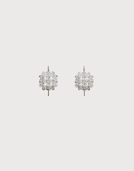 INTERSECTIONS#1 - EAR-RINGS 17, silver - Nikolay Sardamov