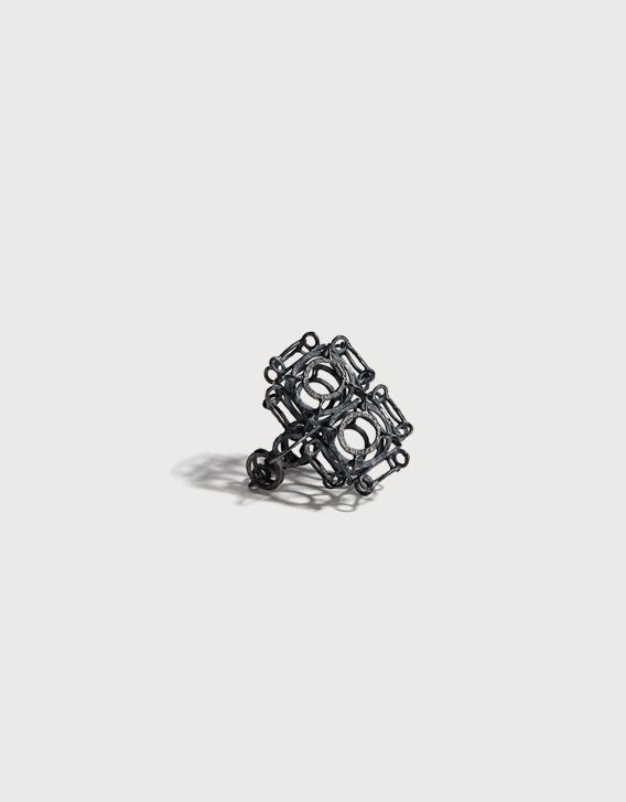 INTERSECTIONS#1 - RING 19, blackened silver - Nikolay Sardamov