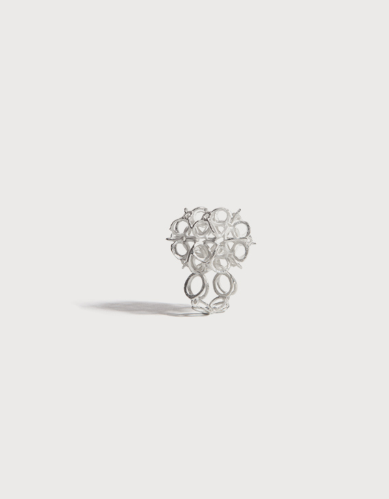 INTERSECTIONS#1 - RING 20, silver - Nikolay Sardamov