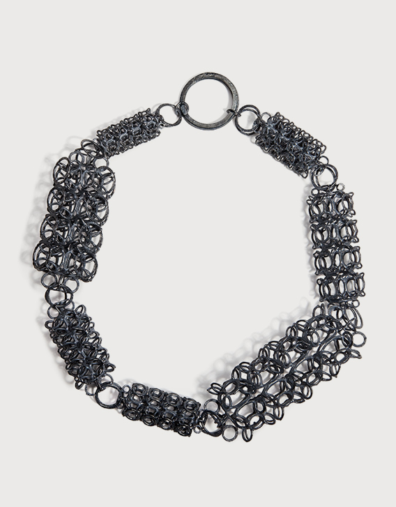 INTERSECTIONS#1 - NECKLACE 24, blackened silver - Nikolay Sardamov