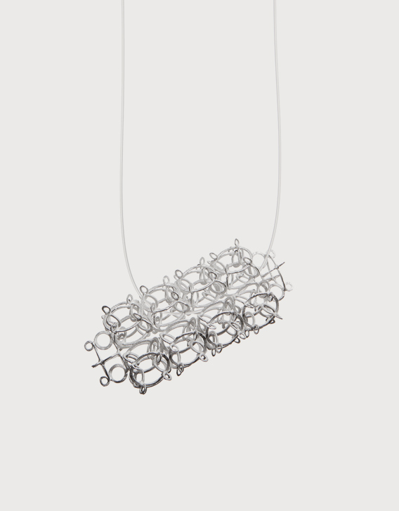 INTERSECTIONS#1 - NECKLACE 25, silver - Nikolay Sardamov