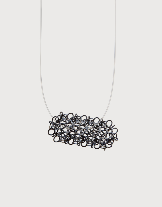 INTERSECTIONS#1 - ECKLACE 26, blackened silver - Nikolay Sardamov