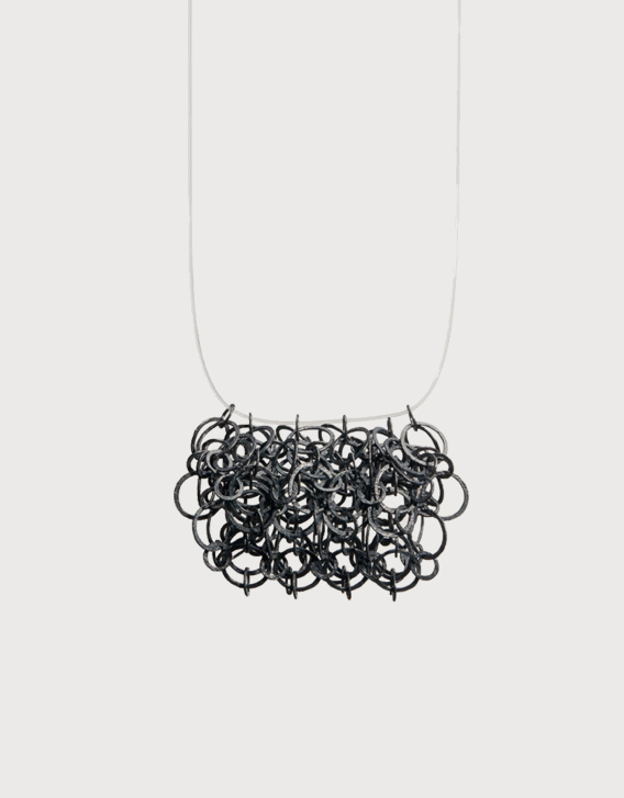INTERSECTIONS#1 - NECKLACE 27, blackened silver - Nikolay Sardamov