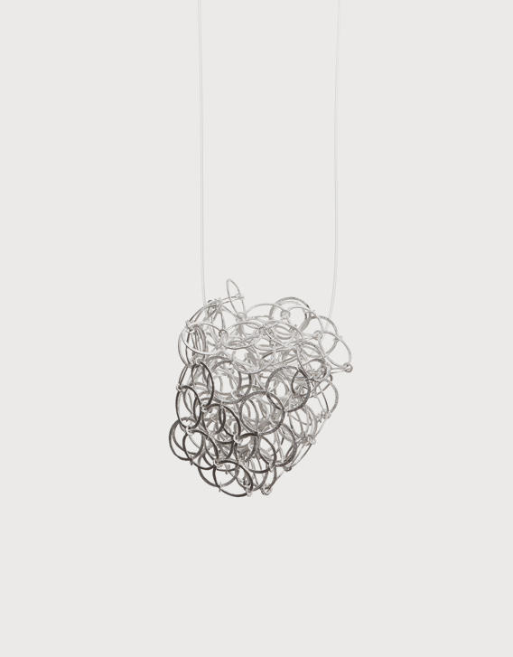 INTERSECTIONS#1 - NECKLACE 28, silver - Nikolay Sardamov