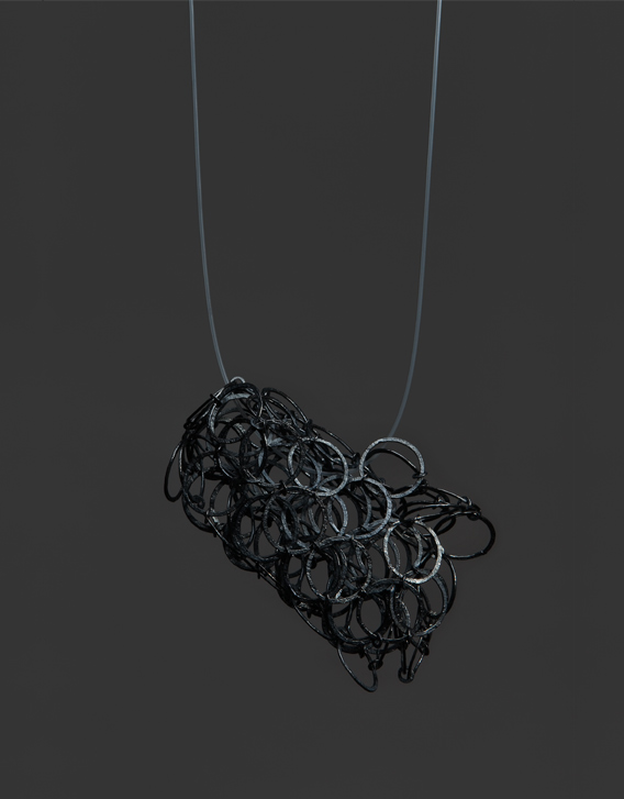 INTERSECTIONS#1 - NECKLACE 29, blackened silver - Nikolay Sardamov