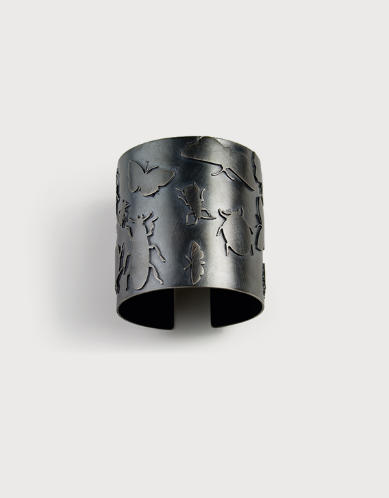 BANGLE 1, blackened silver - Nikolay Sardamov