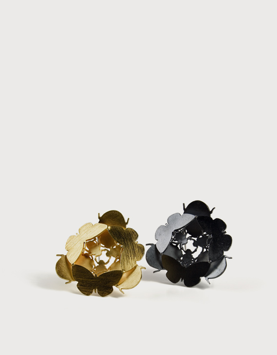 BROOCHES 4, gold, blackened silver - Nikolay Sardamov